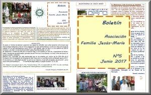 Boletín Asociación Familia Jesús-María N°5 Junio 2017