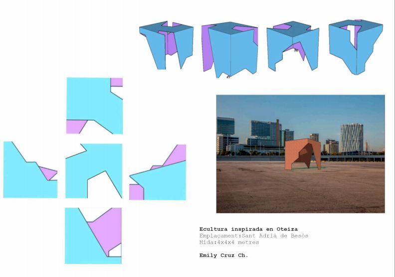 1r BTX Volum Disseny d'una escultura urbana inspirada en Oteiza