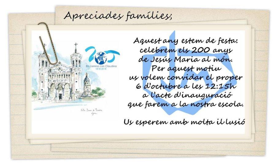 Inauguració Bicentenari JM