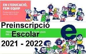 Preinscripció Escolar 2019-2020
